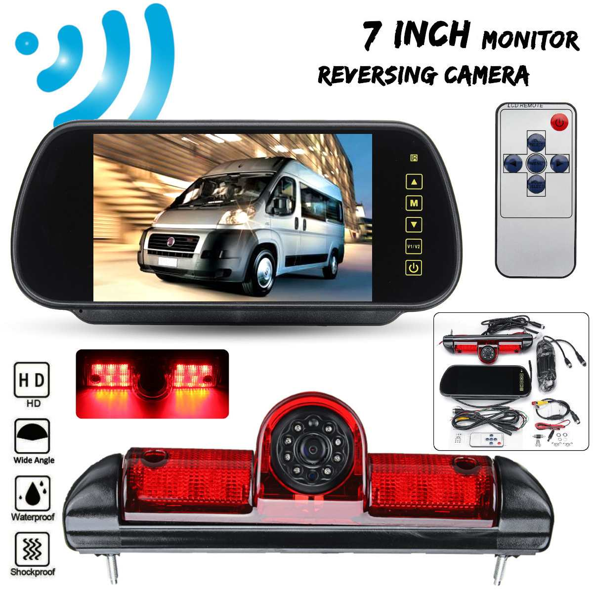 CCD HD Car Rear View Camera Reverse Backup Parking IR LED For Fiat Ducato X250 Citroen Jumper III Peugeot Boxer III