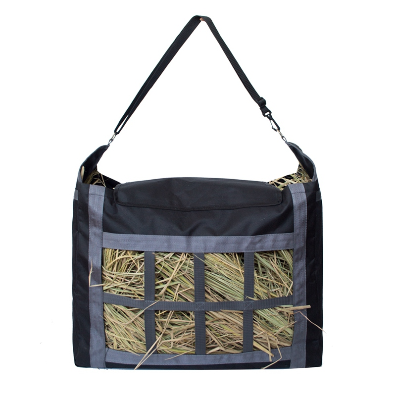 Oxford Fabric Hay Bag, Adjustable Strap and Large Capacity Hay Tote Pouch Bag Horse Garden Farm Hay Feed Accessories