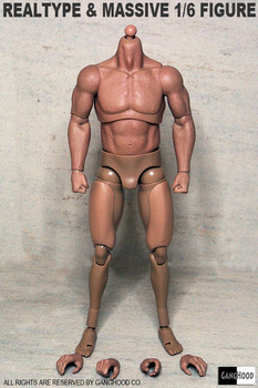 Wholesale Dropshipping GangHood 1/6 Scale Muscular Body 1.0 Version for Hot Toys Bane Arnold Head Sculpts недорого