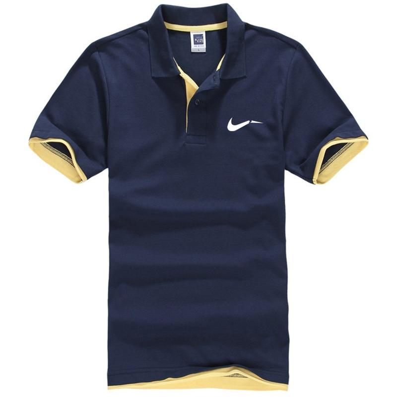 New men's polo shirts high-quality cotton