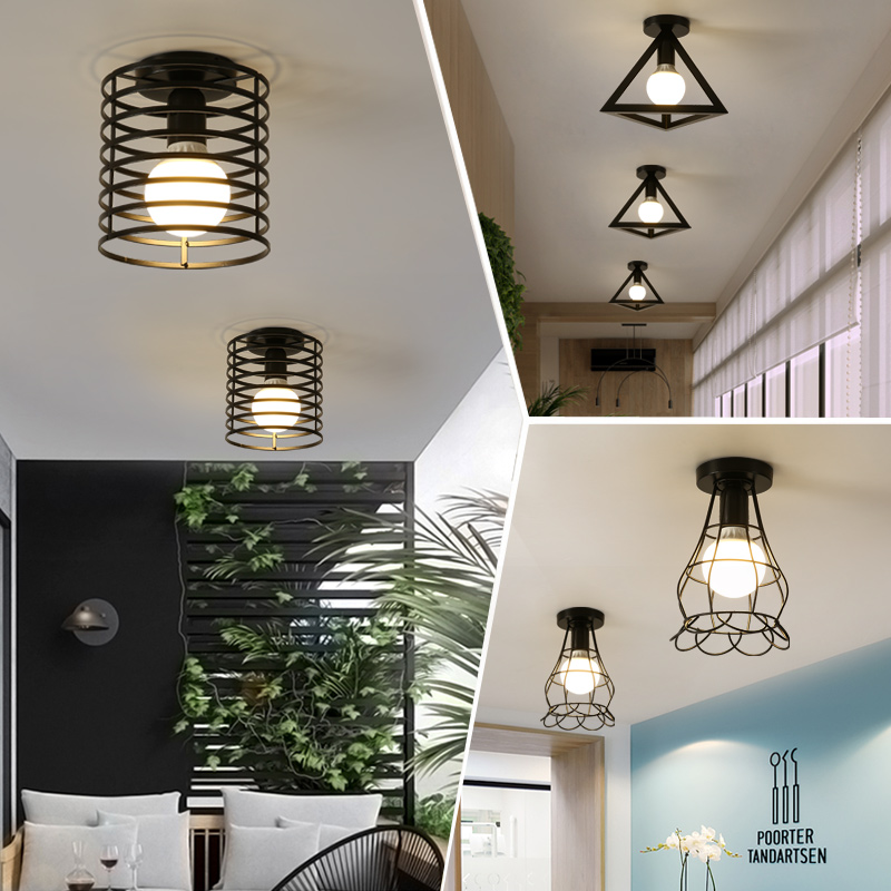 cheapest LED Chandelier Lighting Fixtures Lustre Vintage Led Lamp Industrial Kitchen Living Room Black Avize Modern Plafonnier Night Lamp