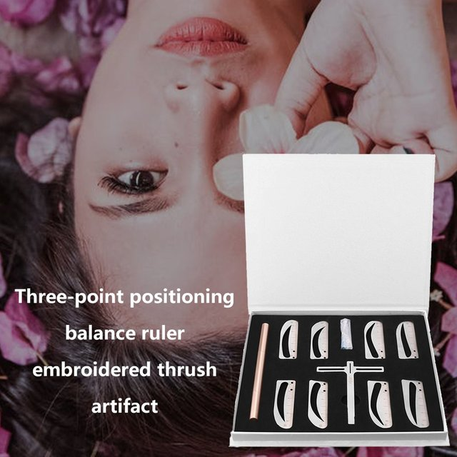 Three-point Positioning Balance Eyebrows Eyebrow Artifact Eyebrow Stickers Eyebrow Ruler Tattoo Supplies Tool 4