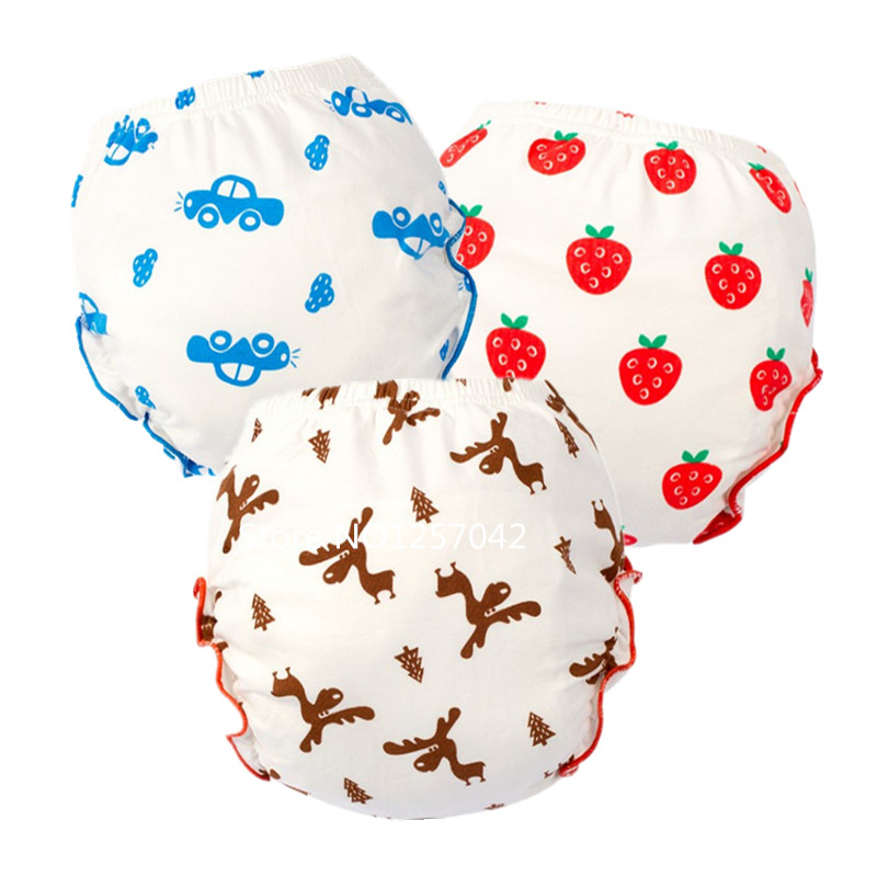 Baby Infant Toddler Training Pants Waterproof Cotton Cloth Diapers Panties Reusable Baby Diapers Nappy Changing