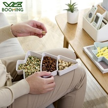 WBBOOMING Christmas Tree Shape Plastic Snack Storage Box Seeds Nuts Dry Fruits Plates Bowl Dish Plate Tableware Breakfast Bins
