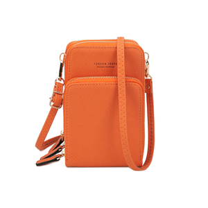 Image 1 - Новый маленький женский кошелек Кроссбоди для сотового телефона, мини легкие кожаные сумки мессенджеры, сумка для сотового телефона с ремешком и отделениями для карт