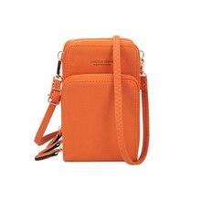 Neue Kleine Handy Frauen Crossbody Geldbörse Brieftasche Mini Leichte Leder Messenger Taschen Handy Tasche mit Strap Karte Slots