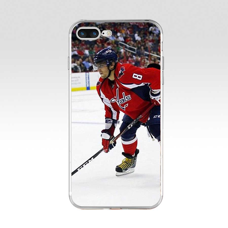 182FG الجليد هوكي الكسندر أوفيتشكين سيدني كروسبي لينة TPU حقيبة غطاء سيليكون ل أبل iPhone5 5s se 6 6s 7 8 زائد x xr xs ماكس