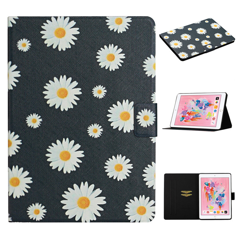 Painted Generation 2019 7th Flower for Funda Case iPad Cover 10 2 for iPad Case Apple