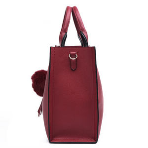 Image 3 - MIYACO Women Bag Leather Handbag Designer Tote Bags Female Elegant Crossbody Bags Ladies Hand Bags with Tassel&Furry ball