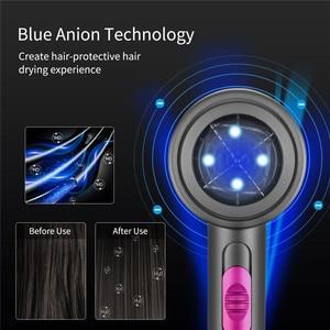Image 5 - 2000W asciugacapelli asciugacapelli professionale asciugacapelli caldo freddo vento blu chiaro negativo ventilatore ionico asciugacapelli elettrico a secco 220V