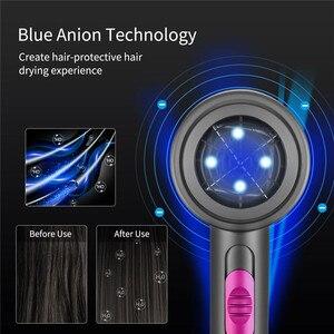 Image 5 - 2000W מייבש שיער מקצועי מייבש שיער סלון מייבש חם קר רוח כחול אור שלילי יונית מפוח יבש חשמלי מייבש שיער 220V