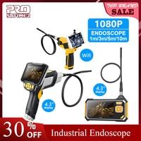 Prostormer 4.3 Inch Industri Endoskopi 1080P Inspeksi Kamera untuk Perbaikan Alat Ular Keras Genggam Wifi Endoskop Android