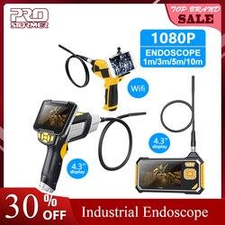 Prostormer 4.3 polegada endoscópio industrial 1080 p câmera de inspeção para ferramenta reparo automóvel cobra handheld duro wifi endoscópio android