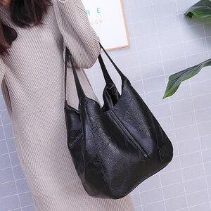 Image 3 - Винтажные кожаные роскошные сумки женские сумки дизайнерские сумки известный бренд женские сумки большой емкости сумки шопперы для женщин sac A Main