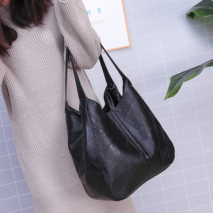 Image 3 - Vintage Leather luxury handbags women bags designer bags famous brand women bags Large Capacity Tote Bags for women sac A Main