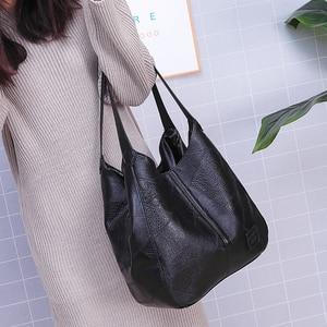 Image 3 - Vintage deri lüks çanta kadın çanta tasarımcısı çanta ünlü marka kadın çanta büyük kapasiteli Tote çanta kadınlar için kesesi ana