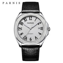 Parnis luxury Automatic Watches Minimalist Watches Mens Wrist Watch Sapphire Crystal Mechanical Watches 152 cheap 10Bar Leather Deployment Bucket Fashion Casual Automatic Self-Wind 23cm Stainless Steel Auto Date Complete Calendar Luminous Hands