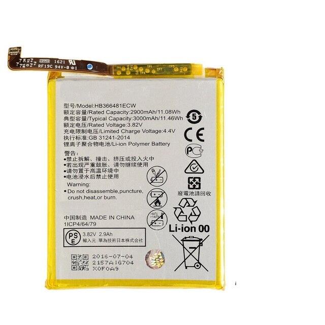 3000mAh bateria wbudowana zestaw wymienny HB366481ECW dla Huawei P9 P9 Lite Honor 8 z darmowymi narzędziami