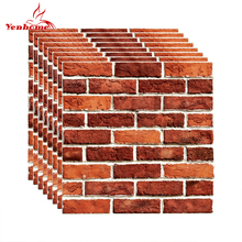 PVC Self Adhesive Wallpaper 3D Brick Tiles for Kitchen Backsplash Peel and Stick Wall Stickers Bathroom Home Decor Wall Decals