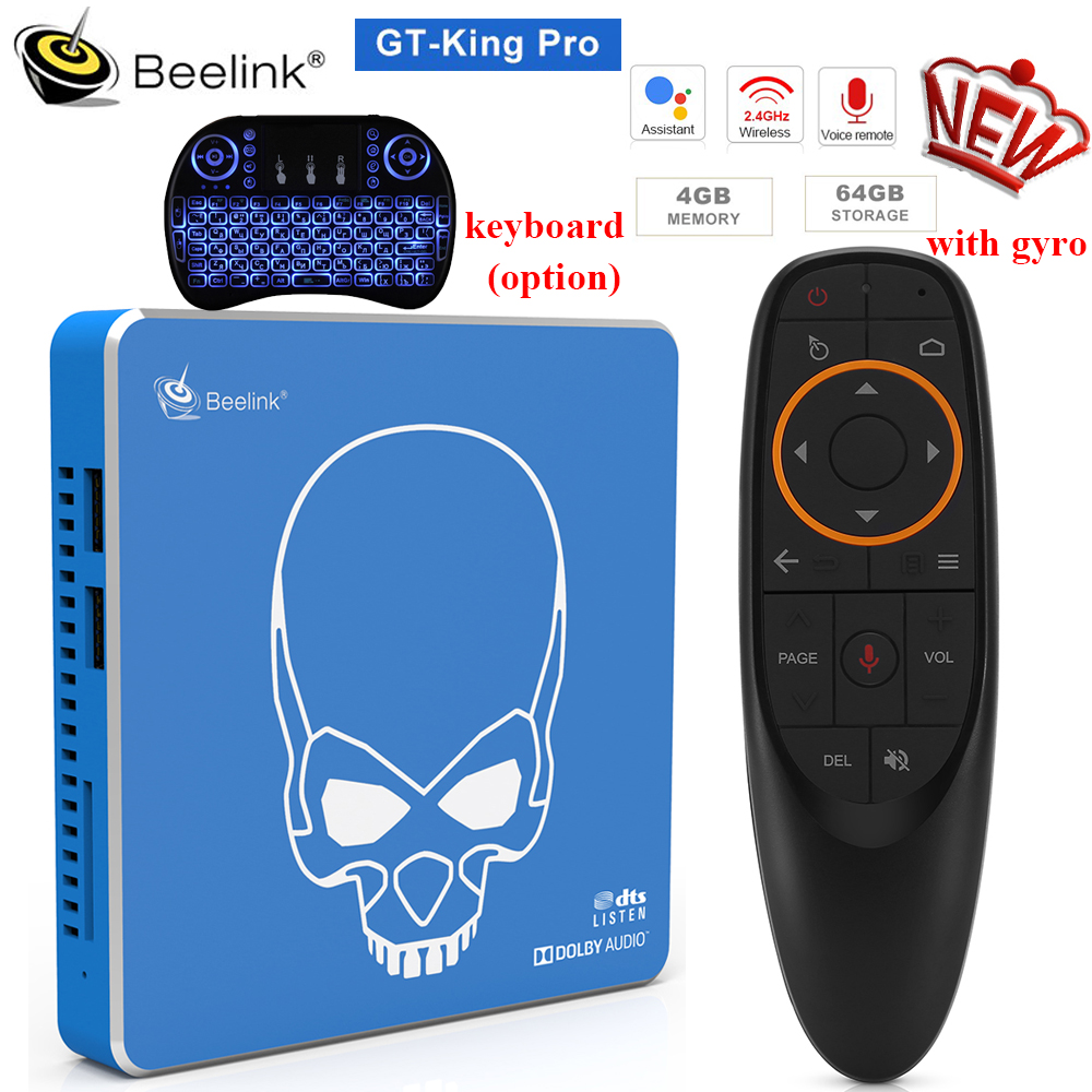 Beelink GT-King Pro Android 9.0 Smart TV BOX 4GB 64GB Amlogic S922X-H BT 4.1 2.4GHz+5.8GHz Hi-Fi Lossless Sound TV BOX In Stock