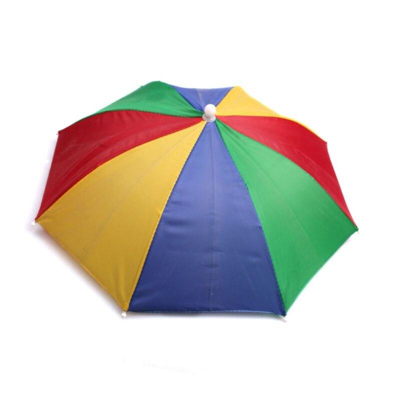 Ladies Mens Adult Multi Colour Festival Essential Umbrella Rain Hat Fancy Dress R7RB