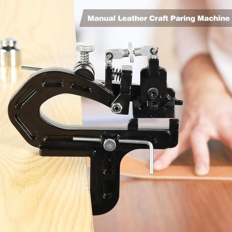 Manual Leather Craft Paring Machine Edge Skiving Hand Leather Peeler Tool Leather Paring Device Edge Cut Splitter Skiver