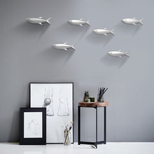 1 Pcs Nordic Modern Home Wall Decoration Fish TV Background Sofa Back Stickers Hanging Jewelry