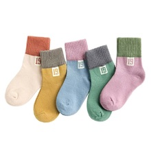 5 Pairs 2019 Spring And Autumn New Newborn Socks Baby Boy Girl Infant Sock Cotton Breathable Sweat-Absorbing Born