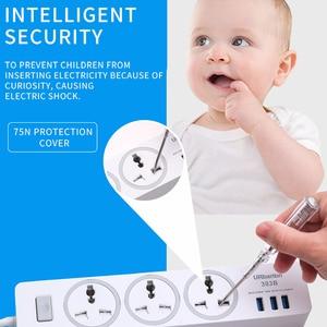 Image 3 - Power Strip Smart plug 110 250V 2500W Fast Charging Socket with USB Universal Socket Plug Extension cord socket For EU UK AU US