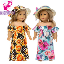 17 inch baby doll clothes summer party dress set 18 american children Christmas gift