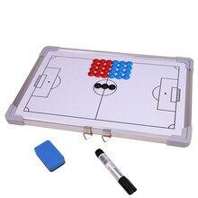 Wolface placa magnética de alumínio tático para o treinador de estratégia de futebol juiz placa futebol traning equipamentos acessórios