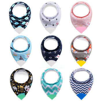 Baby Bibs with Teether Baby Stuff Triangle Bib Silicone Baby Scarf Cotton Drooling Towel Burp Cloth Infant Feeding Towel 5 pieces lot newborn baby boy girl bibs triangle drooling toddler cotton scarf burp slabber cloth bandana infant stuff bibs