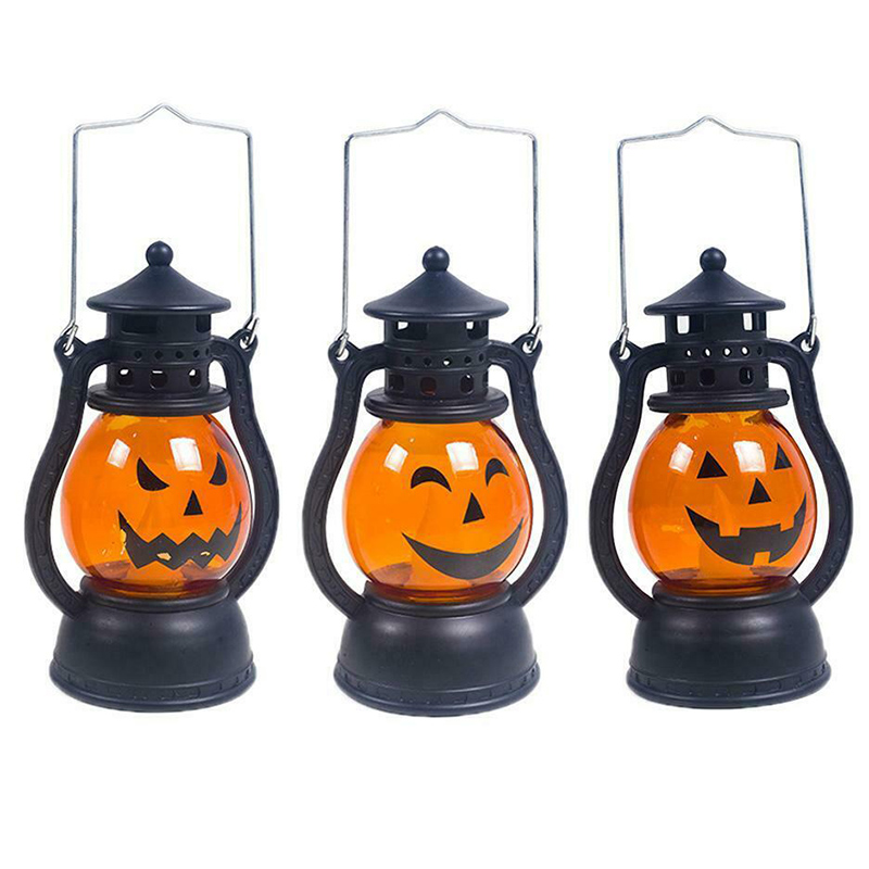 Halloween Decoration Paper LED Lantern Hanging Pumpkin Lamp Party Home Props JA55