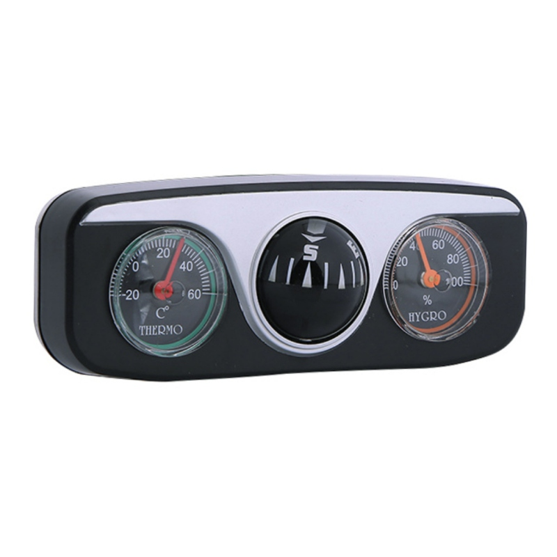 3 in 1 Car Compass Thermometer Hygrometer Car Ornaments Car Styling Interior Accessories For Auto Boat Vehicles