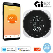 Tuya inteligentne Wifi termostat regulator temperatury do wody elektryczne ogrzewanie podłogowe kocioł gazowy wody współpracuje z Alexa Google Home tanie tanio CINLINELE Rohs CN (pochodzenie) 90~240V 16A 3A 3A Smart thermostat for elec Smart thermostat for wate 50 60Hz 0~70℃ ±5℃