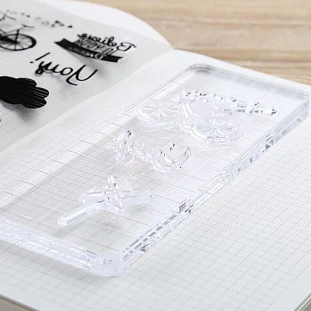 High Transparency Acrylic Block For Diy Transparent Scrapbooking Clear Album Stamp Supplies Diy Photo Seal Decorative Accou X4C8
