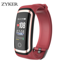 ZYKER New Bluetooth Smart Watch Waterproof Fitness Tracker Heart Rate blood pressure Monitor Smart Bracelet Wristband Smartwatch origianl garmin vivoactive hr smart watch bluetooth 4 0 waterproof smartwatch heart rate monitor wristband gps