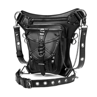 2019 Steampunk Waist Bag Women Vintage Fanny Packs Motorcycle Hip Leg Pack Female Shoulder Bag PU Leather Crossbody Bags for Men