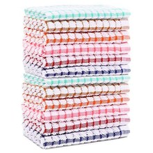 Toalhas de prato de cozinha 10 peças, toalhas de cozinha cottton, toalhas de prato 11 Polegada x 11 Polegada (para decoração de cozinha, multi cor)