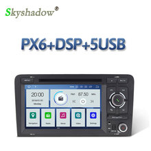 Px6 ips dsp android 9.0 6 núcleo 4 gb + 64 gb carro dvd player dsp rds rádio wifi bluetooth para audi a3 2002-2011 s3 rs3 RNSE-PU(China)