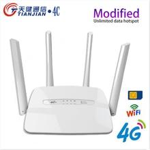 4G Router Broadband Antennas CPE Network-Hotspot Sim-Card-Slot 300mbps Unlock LTE WIFI
