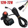 Accélérateur de pouce de vélo électrique 12 V-72 V accélérateur de pouce avec interrupteur d'alimentation affichage de tension de LED pour accessoires de vélo électrique