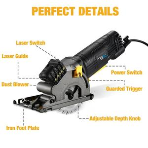Image 2 - NEWONE Electric Mini Circular Saw With Laser For Cut Wood,PVC tube,15pcs Discs, 230V Multifunctional Electric Saw DIY Power Tool
