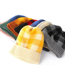Plaid Beanie Women Beanie Hats Winter Men Cap Winter Beanie bonnet homme hiver женская зимняя шапка bonnet enfant hiver fille(China)