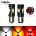 1 шт. Автомобильный светодиодный светильник Canbus 1156 BA15S 1157 P21/5 Вт BAY15D Авто парковочные Реверсивные огни лампа для автомобиля 12 В белый красный ...