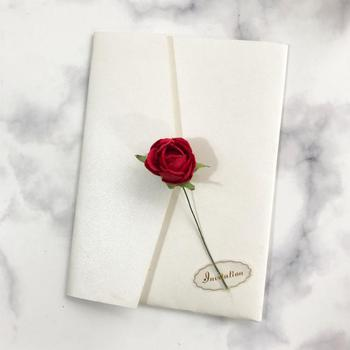 20PCS/LOT Wedding Invitation Card Envelope With Rose Design Invitation Card