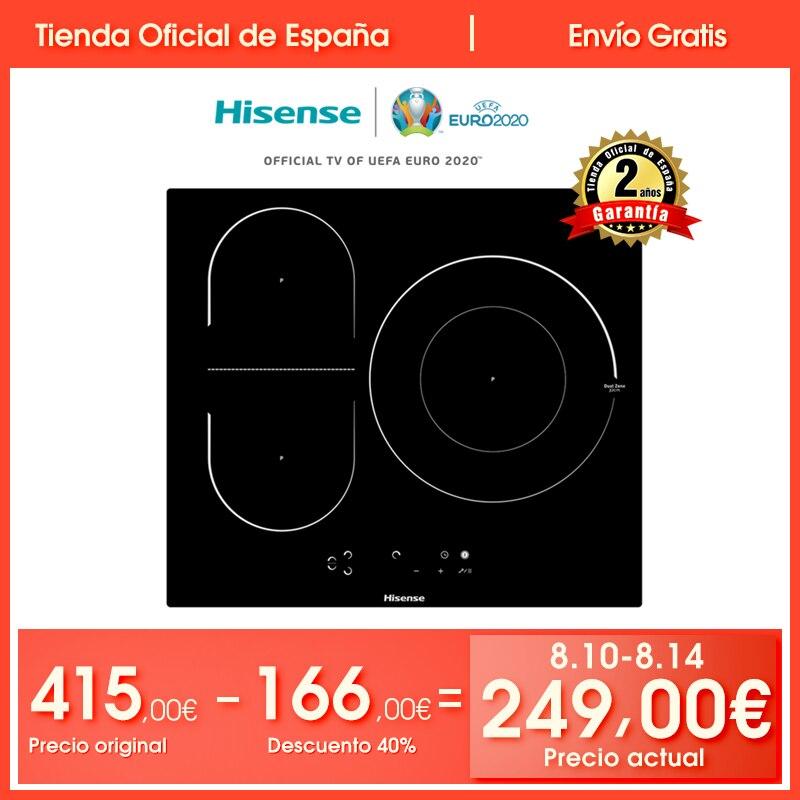 Hisense I6337C cuisinière à induction, 3 brûleurs, 7100W, verrouillage de sécurité, commande tactile, 59 × 6 × 52 cm