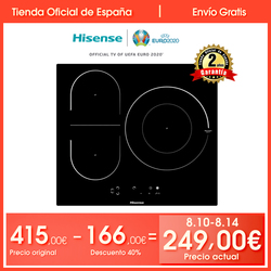 Hisense I6337C induction cooker, 3 Burners, 7100W, safety lock, Touch Control, 59 × 6 × 52 cm