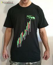 2019 Summer Short sleeve Fashion Tee Shirt Bitcoin cryptocurrency blockchain lambo chart graph shirt