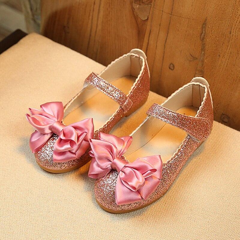 2019 Spring Girls Shoes Flowers Princess Shoes For Baby Kids Single Shoes  Bling Girls Flats Fashion Big girls Shoe 1 13 Year Old| | - AliExpress